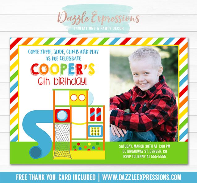 1171 best images about printable invitations on pinterest for Best indoor playground for birthday party