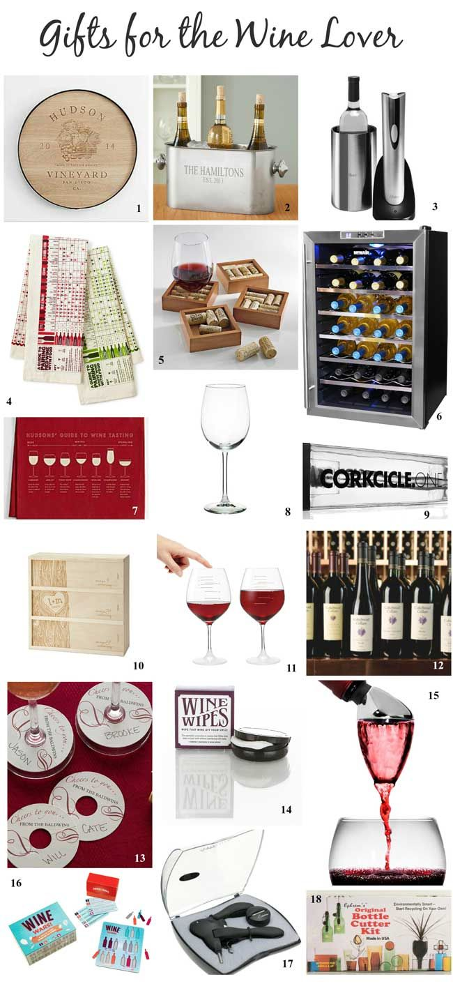Best Gifts for the Wine Lover - get gift ideas for a wine lover in your life including buy and diy wine gift ideas.