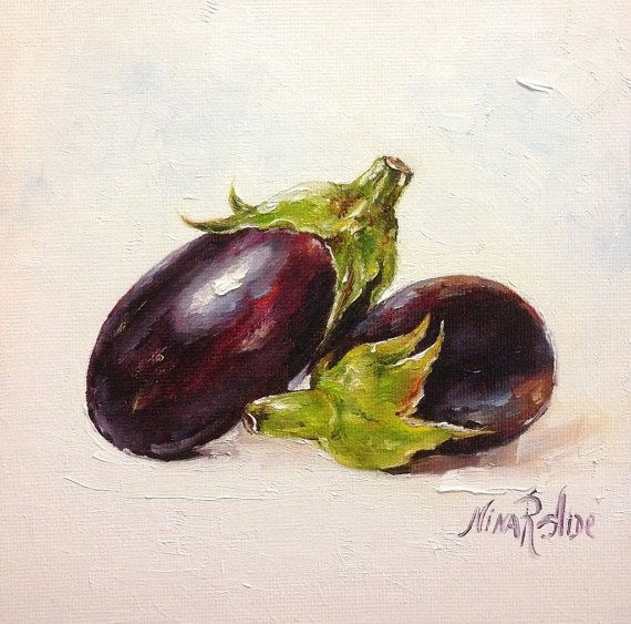 Purple Eggplant Aubergine Kitchen Wall Decor Poster: 17 Best Images About Fruit And Vegetables Kitchen Art By