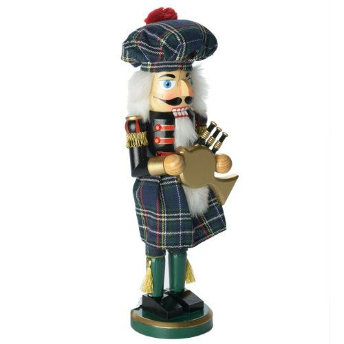 "Santa's Workshop 14.5"" Irish Bagpiper Nutcracker >>> Visit the image link more details. (This is an affiliate link) #CollectibleFigurines"