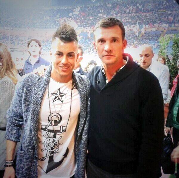 Stephan El Shaarawy and Andriy Schevchenko