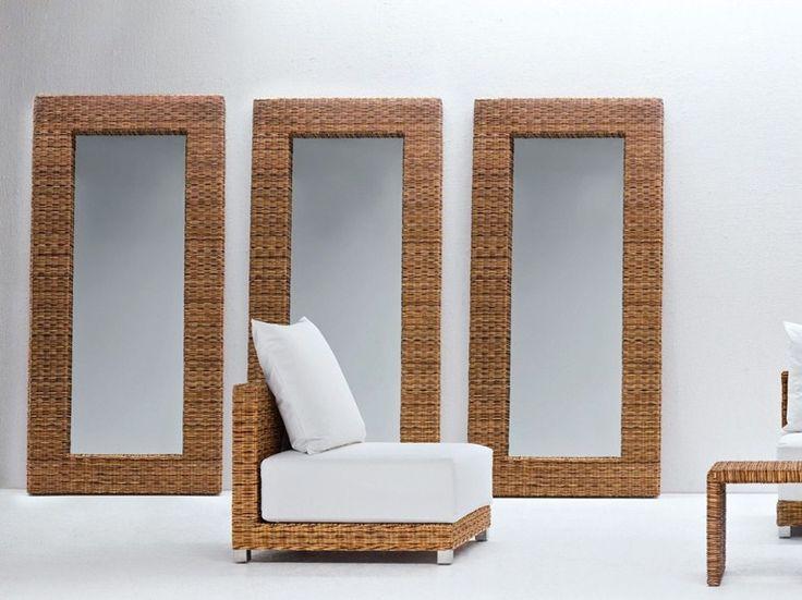Rechteckiger Spiegel mit Rahmen NET 98 by Gervasoni Design Paola Navone
