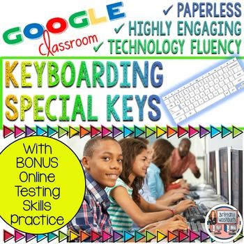 Do your students know the keyboard letters and numbers but need practice with the special keys? Do they have to take online assessments where they will be asked to key in numbers and symbols? Then this practice set is just what you've been looking for. 2 levels of special keys practice plus BONUS practice for online assessment skills
