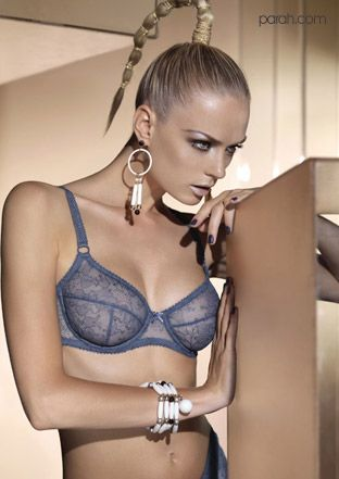 Parah Lingerie - High tech balconette bra in silver