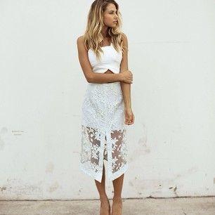 #SaharaRay lookin like a babe in #Maurieandeve #EndlessSummer Skirt & #Goddess Bustier