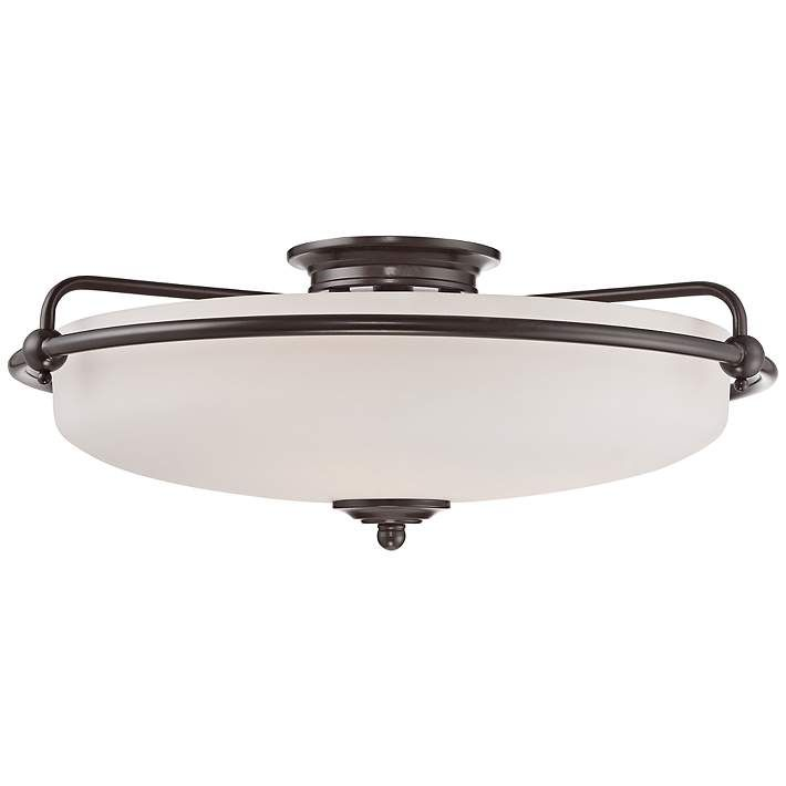 Quoizel Griffin Extra Large Bronze Floating Ceiling Light - #3T133   Lamps Plus