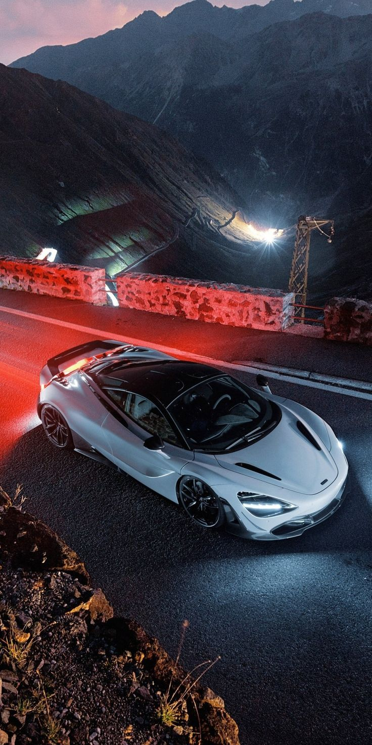 Breathtaking Wallpaper White Car On Road Top View Mclaren 720s Wallpaper Mclaren 720s Car Iphone Wallpaper Mustang Cars