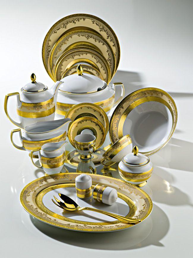 ZEPTER Masterpiece Collection Porcelain - Royal Gold Creme