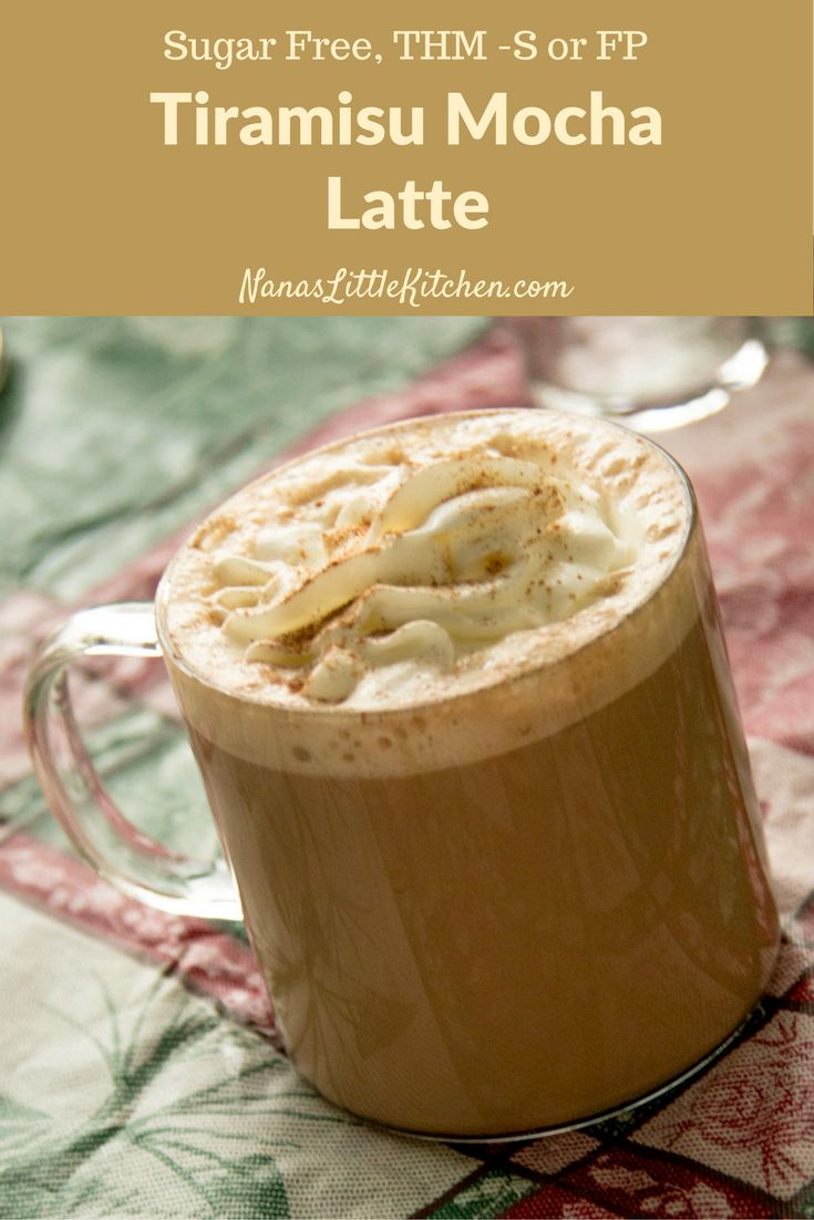Sugar Free Tiramisu Mocha Latte is a delightful mixture of milky hot chocolate and strong coffee with cinnamon and rum flavors to name a few.