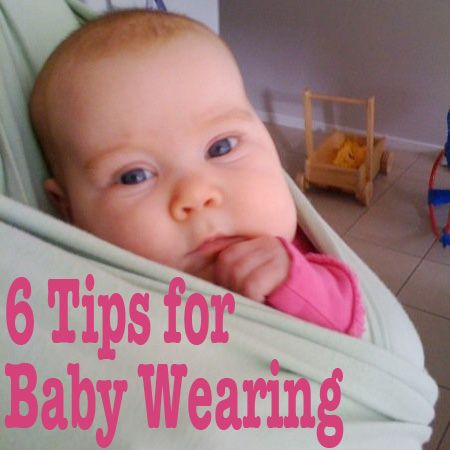 6 Tips for Baby Wearing - Awww, I miss this! I guess I'll just be happy that my cat enjoys being in the mei tai.