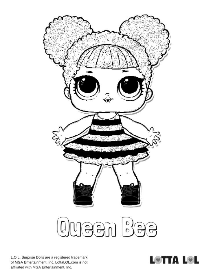 Queen Bee Coloring Page Lotta LOL cars Pinterest Bee