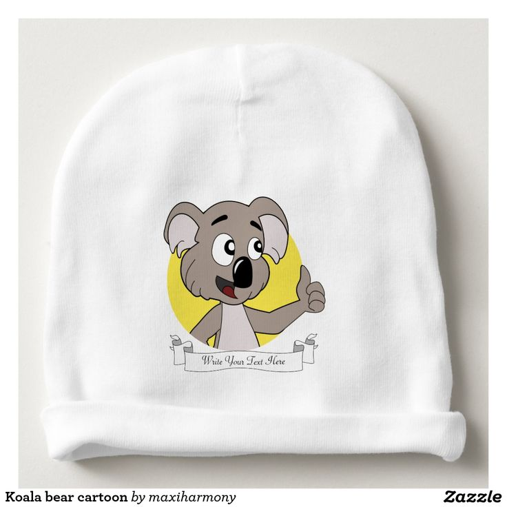 Koala bear cartoon baby beanie