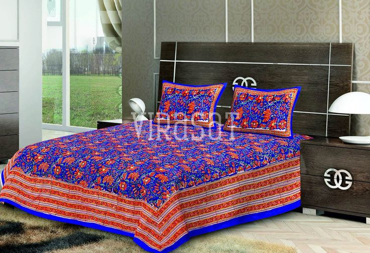 #TheVirasat. Buy Orange with Red Base Floral Print Double #BedSheet with Two #Pillow #Covers Online @ Best Price In India. http://thevirasat.com/shop/ DM or email us at hello@thevirasat.com for retail orders, exports, wholesale or for anything else you may require. http://thevirasat.com #Mumbai #jaipur #textilesexporter #blockprints #kanthawork #london #londonhomes #texas #cheshire #stalbans #hertfordshire #jaipurtextiles #bedsheets #bedcovers #VirasatTextiles #blockprint #textiles…