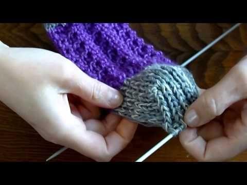 Вязание кружевных носков - YouTube