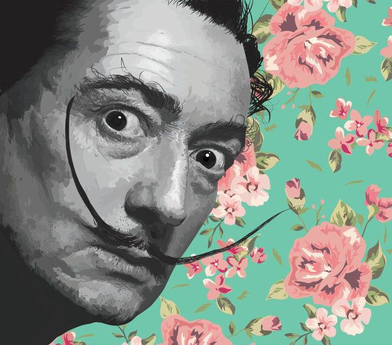 Pop print Salvador Dali  ---------------------------------------------------------------------------------------------------------  We design handmade art for you. We design, we paint, we photograph, so we make great stuff basically. Download your on piece of art, perfect for decorating your own space or as a gift of any type.  Hi res digital download sized to fit standard frames. Print from your computer or print shop. Download include  11 X 14 inches jpg 16 x 20 inches jpg A2 420 x 594mm…