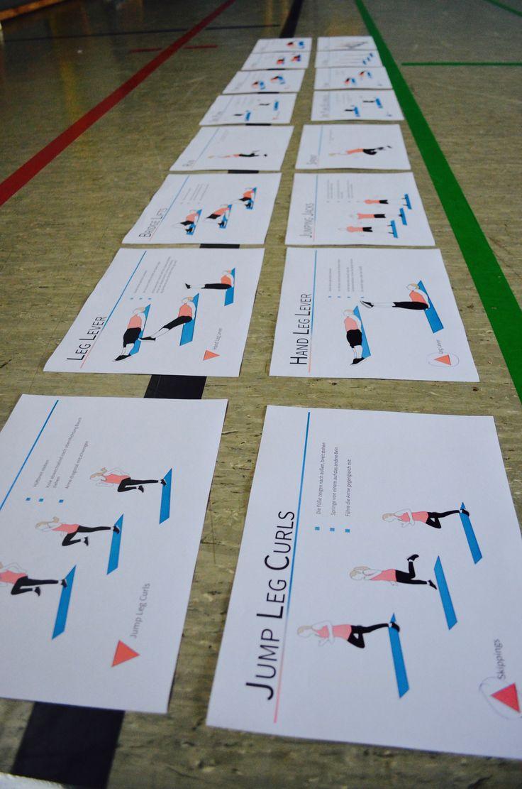 Fitnesskarten Sportunterricht Schule