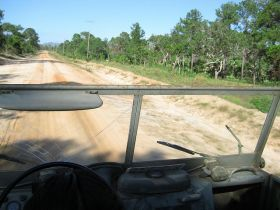 Belize dirt road – It's fairly easy to get a Belize driver's license. Simply fill out the application form, sign it and also get it signed and stamped by a government medical officer.