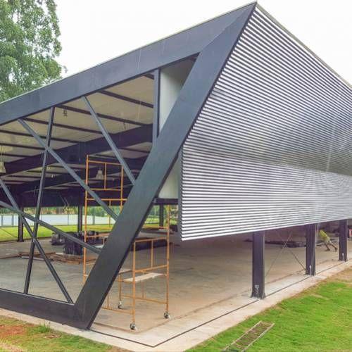 HAUS Arquitetura Estrutura metálica, Brise