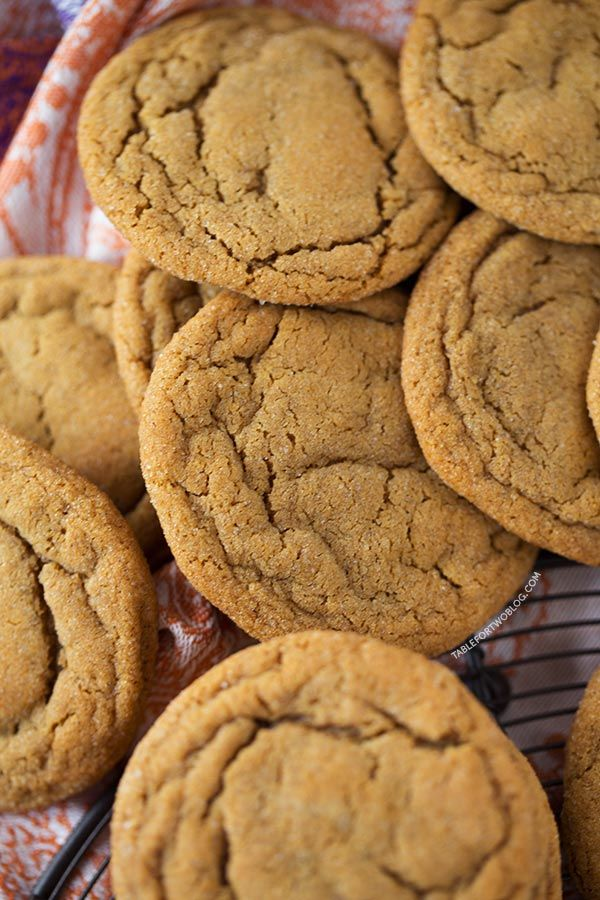 Soft and Chewy Ginger Molasses Cookies | Recipe | Ginger ...