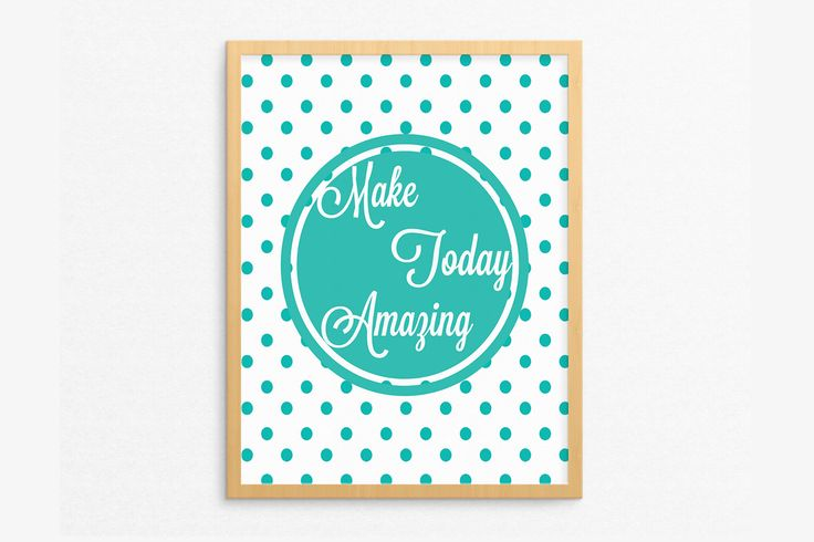 Excited to share the latest addition to my Etsy shop: Positive Quote Print,Make Today Amazing,Encouraging Gift,Motivational Printable,Mint Green Decor,Gifts under 5 dollars,Office Decor Wall Art
