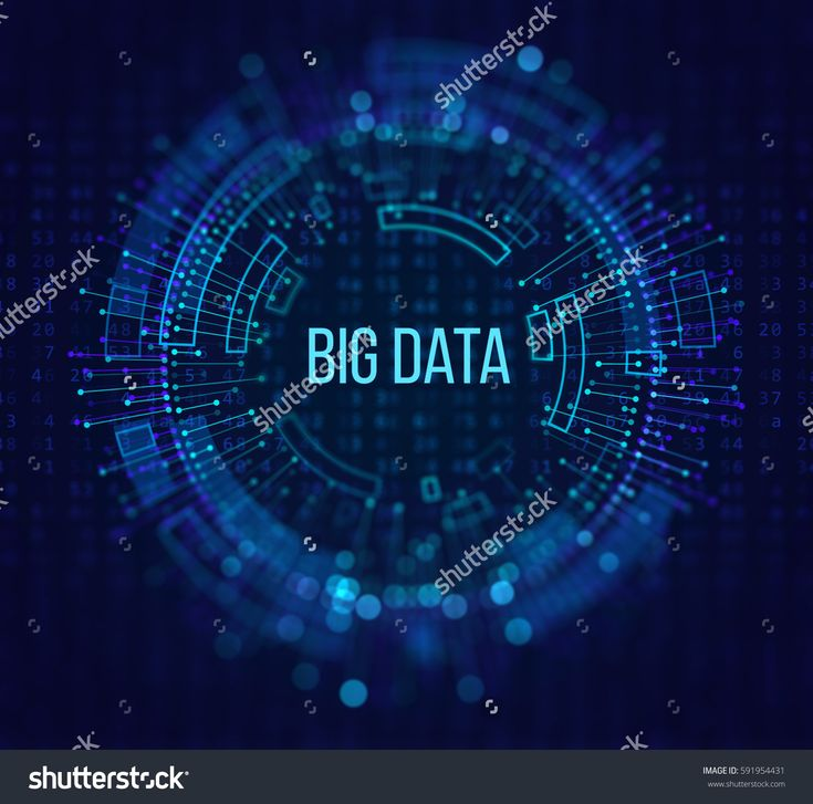 Big Data Visualization. Abstract Background with Dots Array and Lines. Connection Structure Technology / Science Illustration.