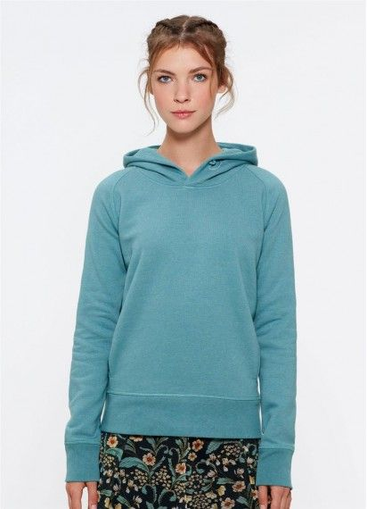 Toasty Girl in the gorgeous Heather Eucalyptus! Made from 85% organic cotton and fair trade.