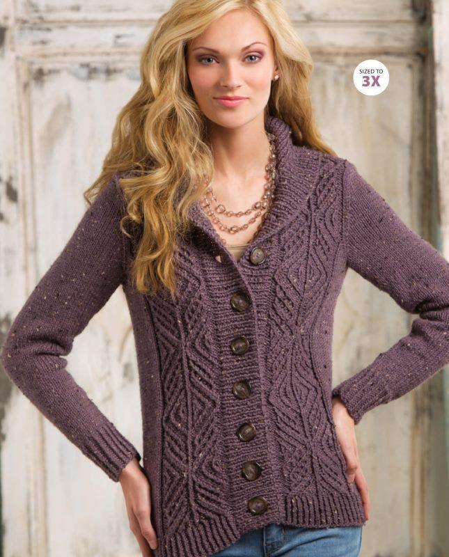 Вязание спицами жакета LOUGHMORE Журнал: Creative Knitting, Autumn 2014