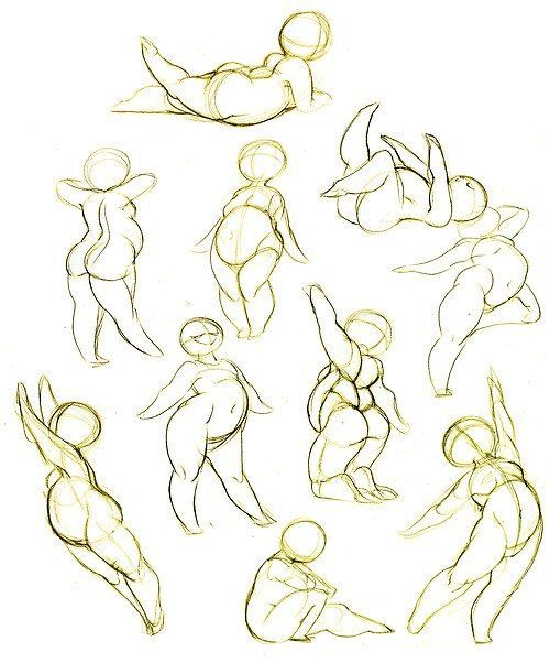 Would need fuller breasts, but this is a good reference for posing Tynnder. It's hard to find a guide for stylizing plus sized characters. :-/
