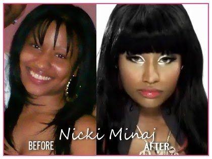 Nicki minaj with and without makeup stripped bare of make up pinterest natural make - Rihanna avant apres ...