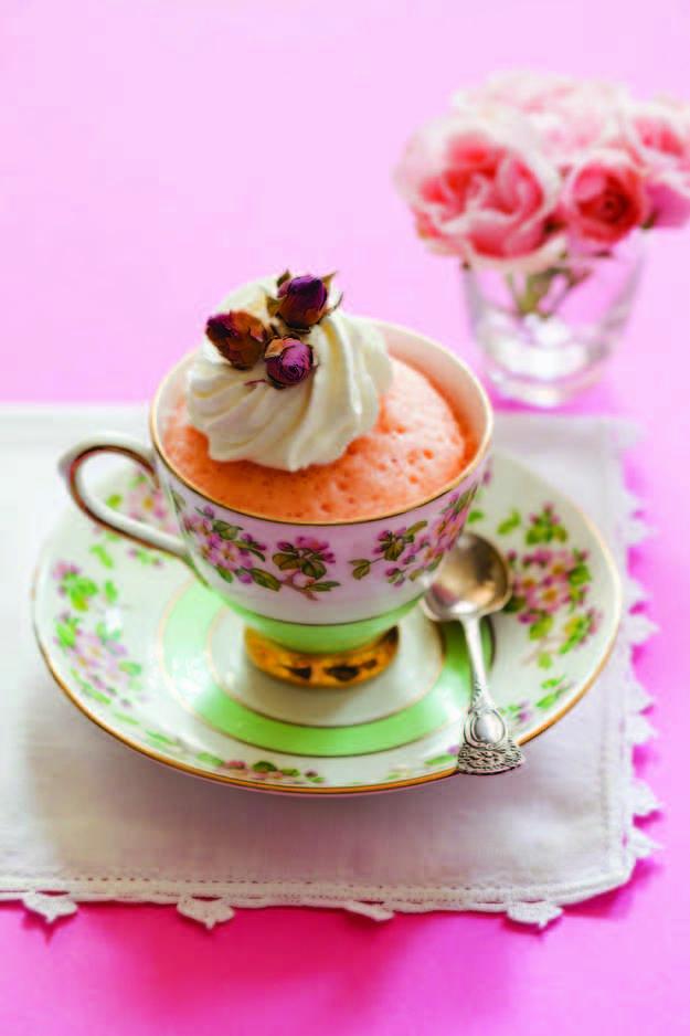 Victorian Rose Mug Cake