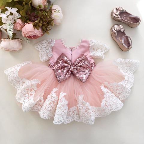 Rose Gold Party Dress, Rose Gold Sequins - Princess Julia Dress - Baby Shop Online