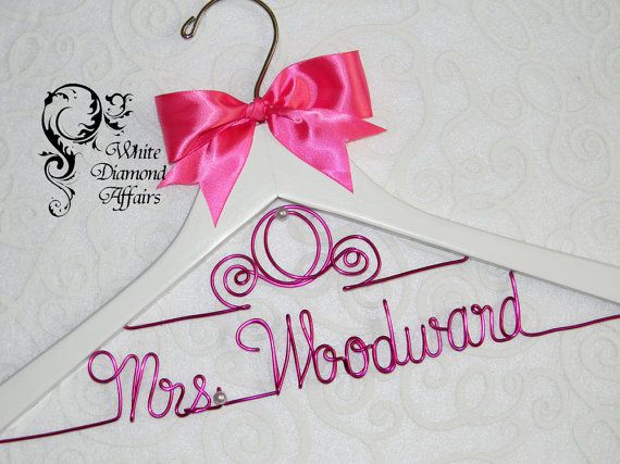 Coach Wedding Dress Hanger, Personalized Disney Princess Themed Bridal ...