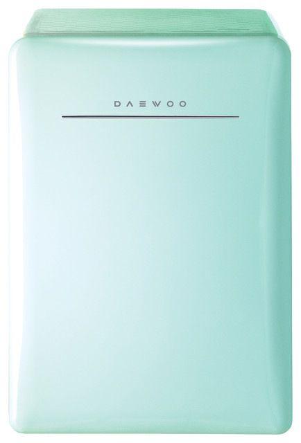 Daewoo Retro Compact Refrigerator Energy Star, Mint midcentury-refrigerators