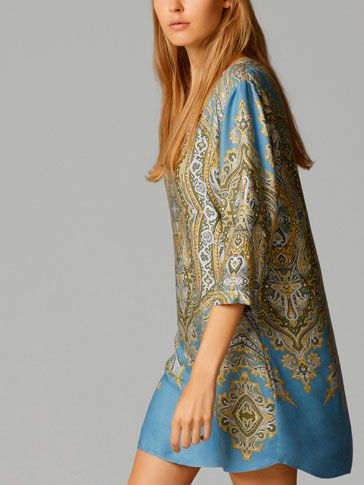 PATTERNED TUNIC DRESS - View all - Dresses & Skirts - WOMEN - United States