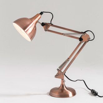 delamaison Lampe de bureau articulée en métal cuivré hauteur 60cm Mecano 35€