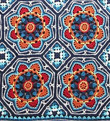 Persian Tile Blanket by Jane Crowfoot. This blanket design is based on traditional Persian ceramic patterns.