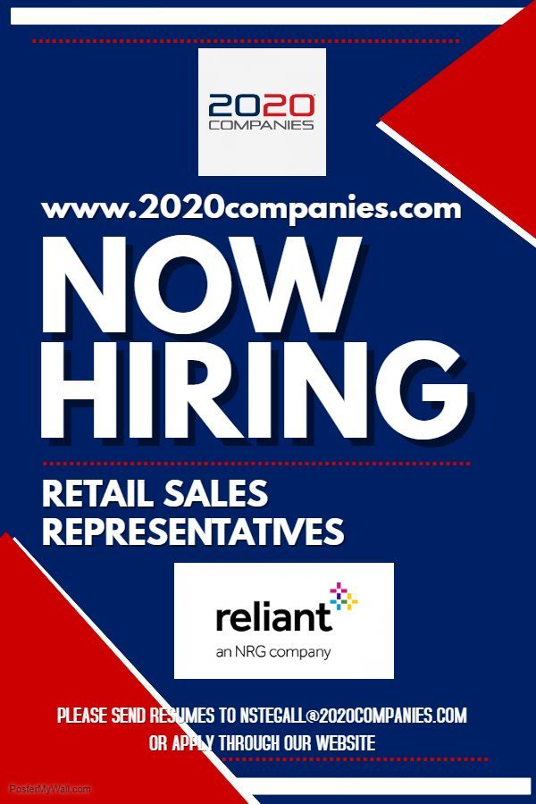 We are Hiring in Dallas for Retail Sales Representatives! Please ...