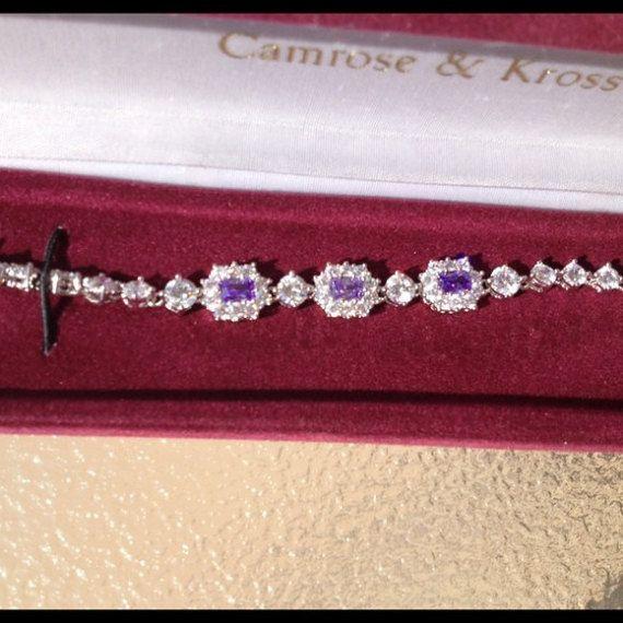 Jackie Kennedy Rhodium Plated Bracelet with by SCLadyDiJewelry