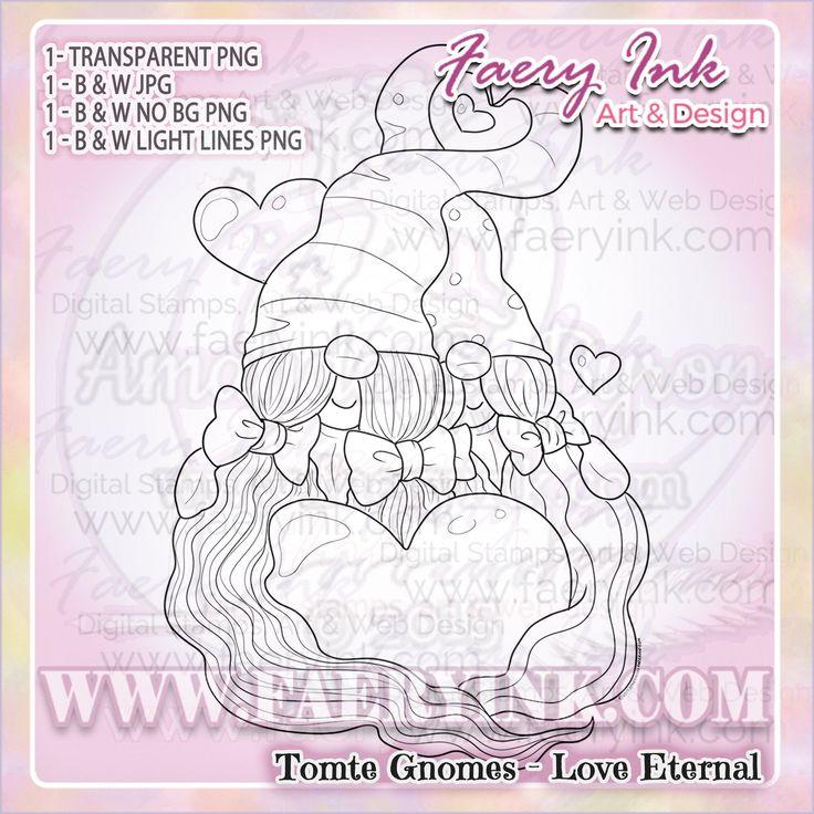Tomte Gnome Love Eternal Sapphic Lesbian Cute Valentines
