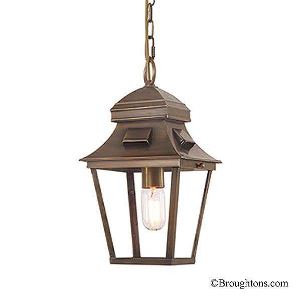 Elstead St Pauls Chain Porch Lantern Antique Brass