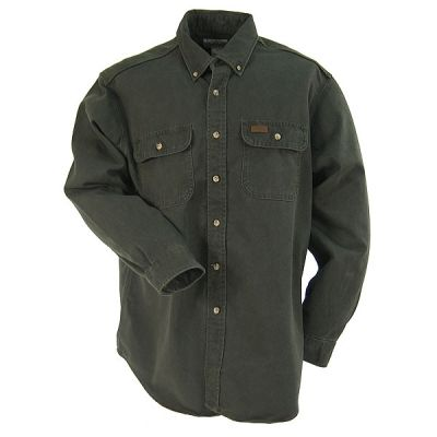 Carhartt Clothing Men's Moss S09 MOS Relaxed Fit Twill Work Shirt