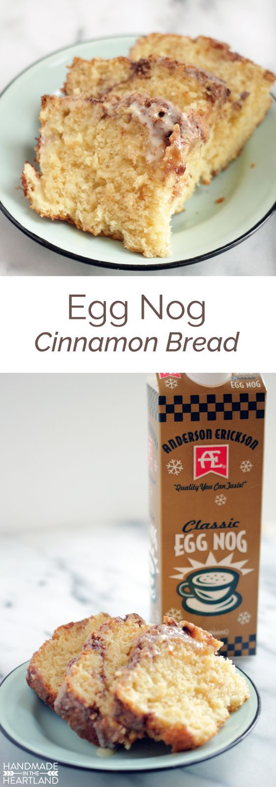 Egg Nog Cinnamon Bread Recipe with #AEDairy, perfect for Christmas morning breakfast!