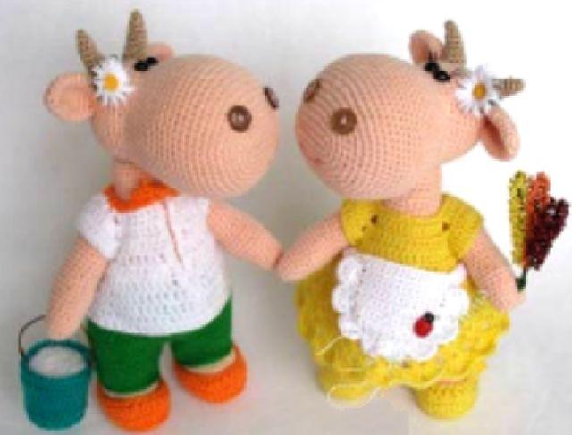 Kuklyandiya: Gebreide Toys gehaakt. dieren