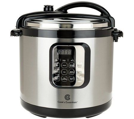 CooksEssentials 10 quart Round Digital Stainless Steel Pressure Cooker