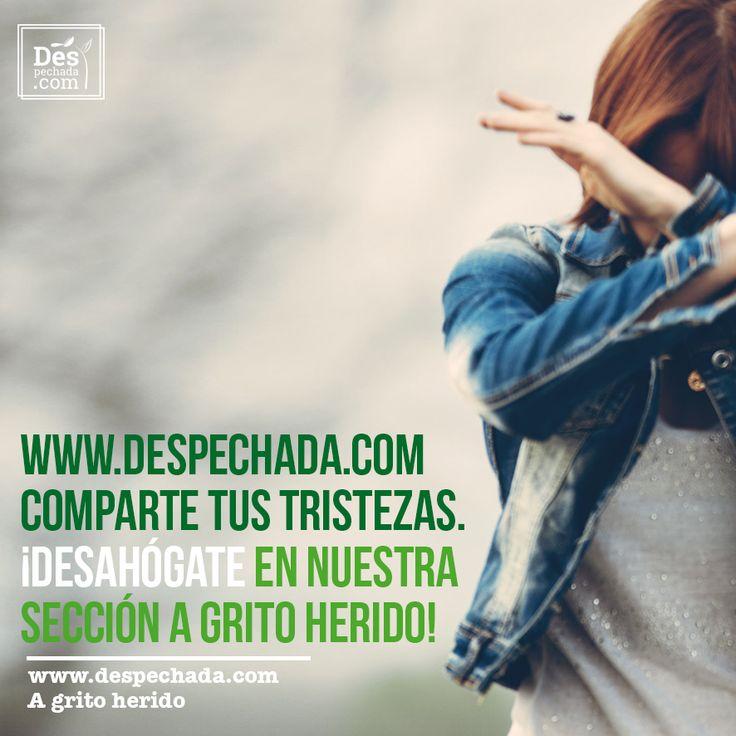 Sabemos lo desgarrador que es no poder estar con la persona que amamos. En #Despechada te escuchamos, te entendemos y te ayudamos a llevar ese dolor. www.despechada.com