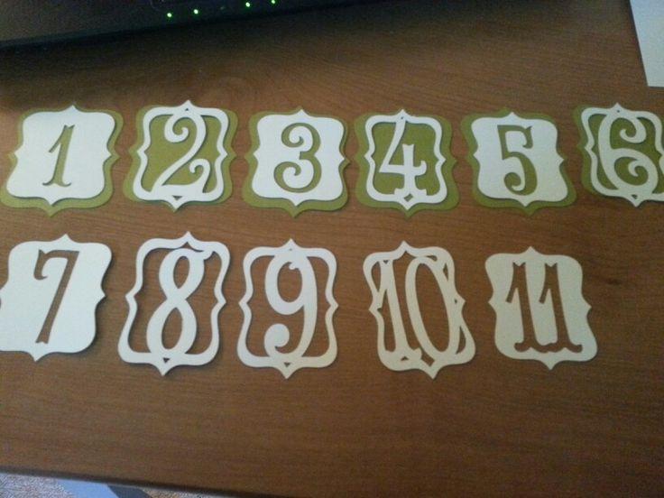 Table Numbers Using Cricut Storybook Halloween Wedding