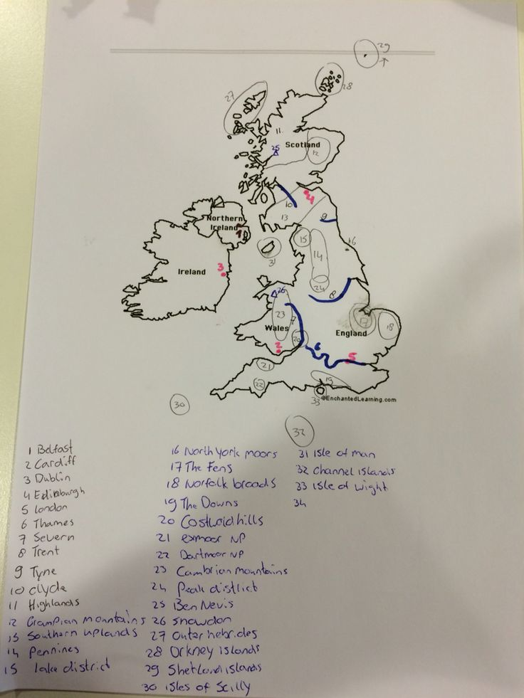 UK Geography, Capitals, Rivers, Regions, Mountains, Islands