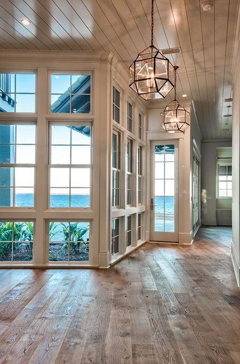 Beach house with reclaimed hardwood floors | Urban Grace Interiors