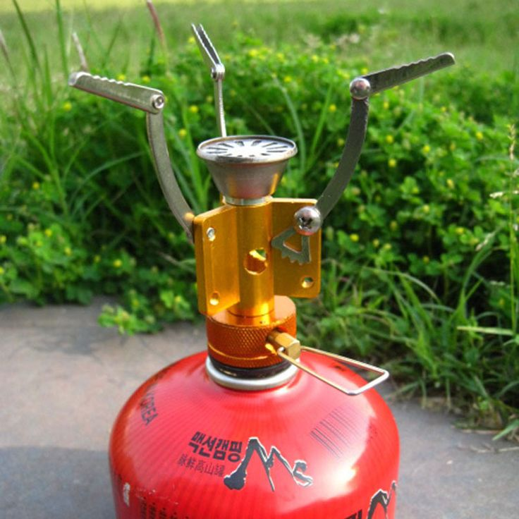 Ultra-light One-Piece Portable Outdoor Folding Gas Stove