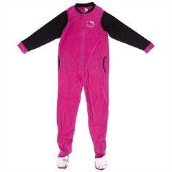 Hello Kitty Pink Footed Pajamas for Women,    #HelloKittyPajamasandRobesforJuniors,    #39516